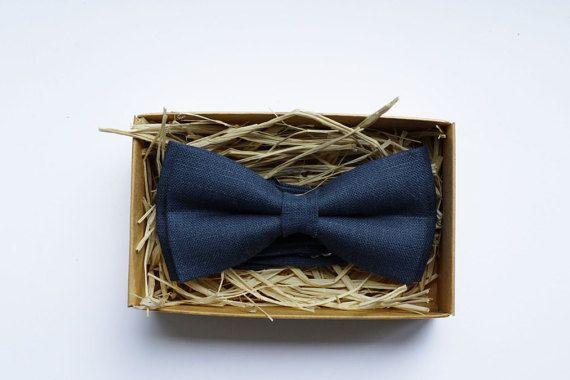Blue Men's Bowtie /  Blue deptha bow tie/ Estate by ArtOfLithuania