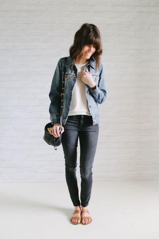 OUTFIT DEL DÍA: Look con jeans y chaqueta de lona