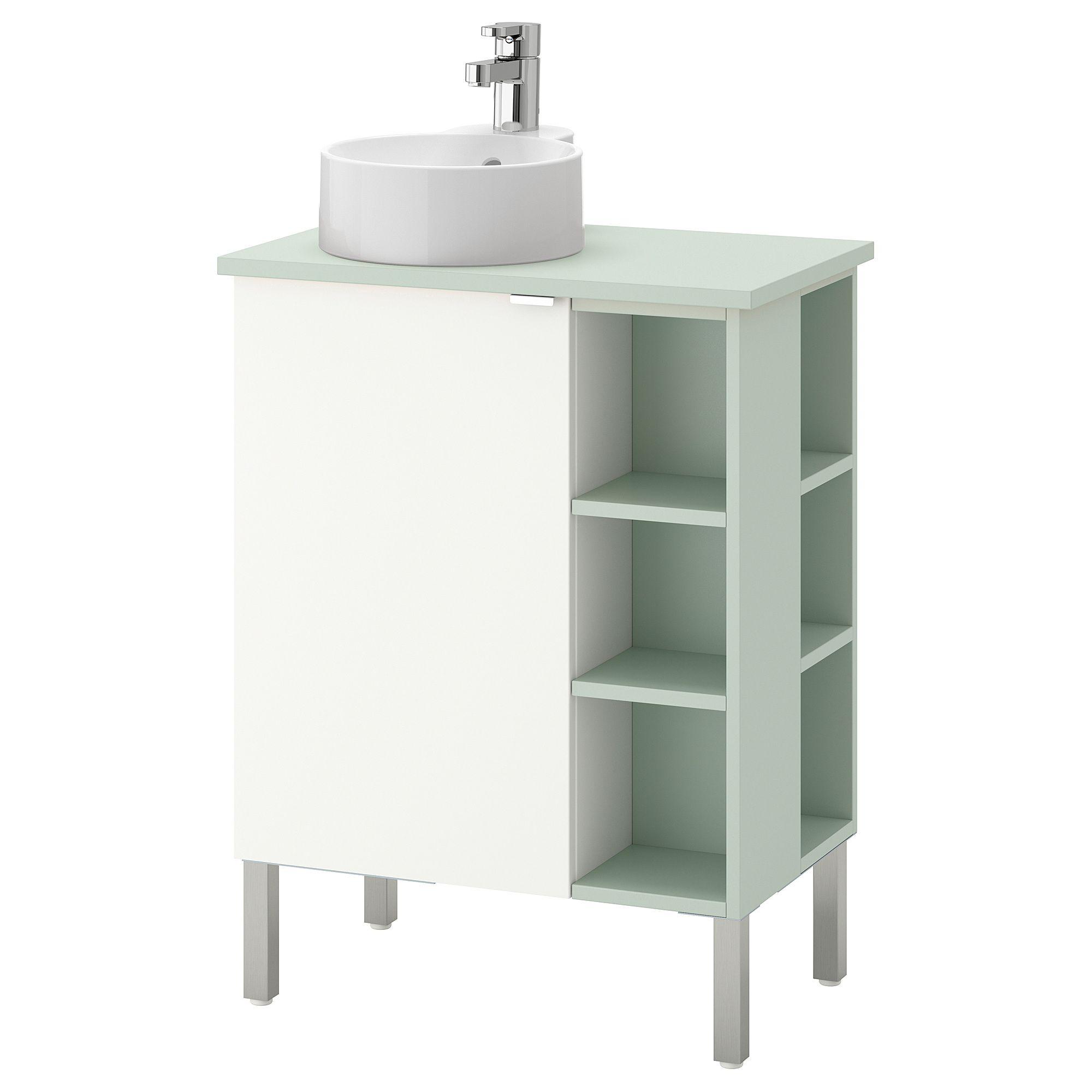 Lillangen Viskan Gutviken Sink Cabinet 1 Door 2 End Units White