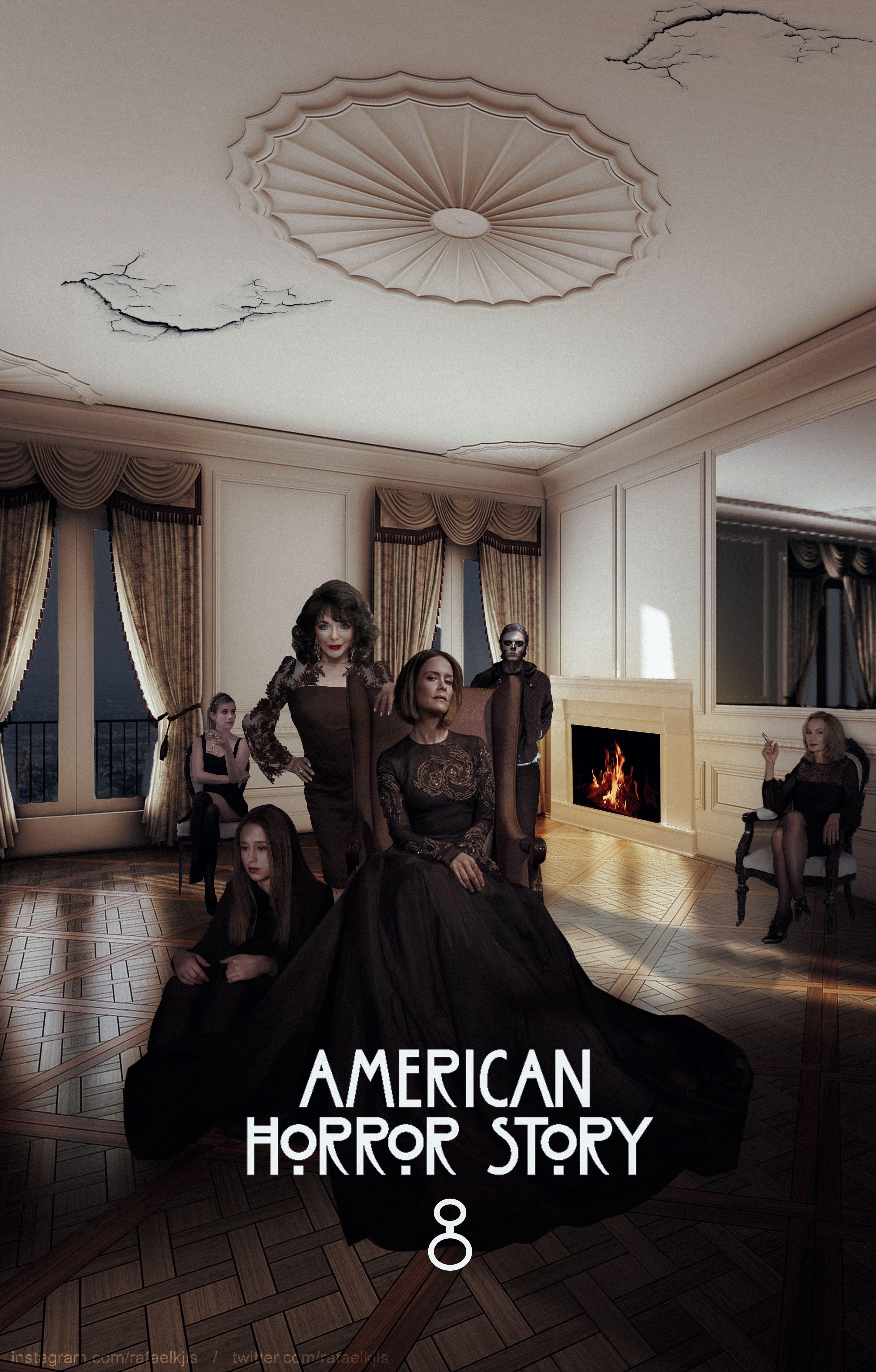 Американская история ужасов постеры всех сезонов