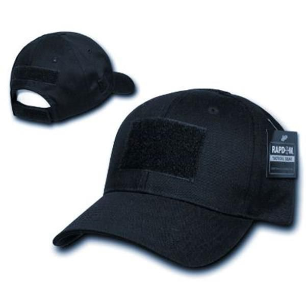 Dark Midnight Navy Blue Tactical Cap FRONT  2 x 3 Inch Velcro   Loop  Fastener for Rank 74667efce03