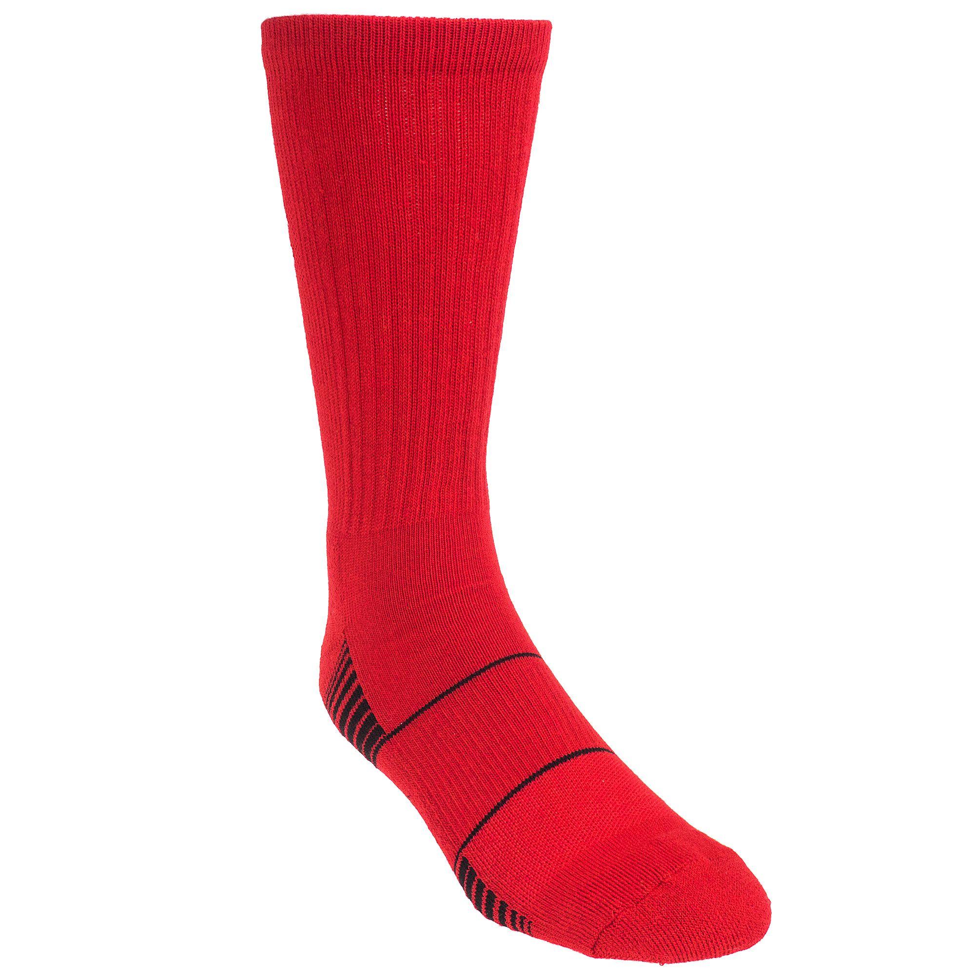 Under armour menus team u red moisturewicking athletic socks