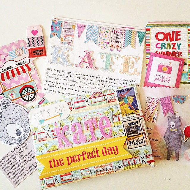 A little beachy carnival  in an envelope from my dear @arieturner