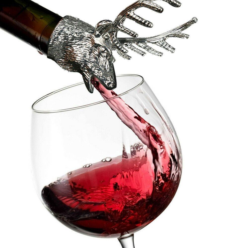 Elk Stainless Steel Liquor Wine Bottle Pour Flow Pourer Spout Stopper Na Liquor Pourers Wine Olive Oil Sprayer