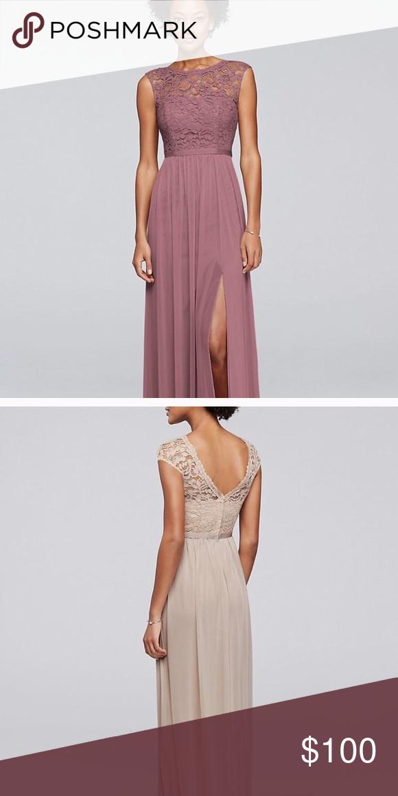 bd0cf090707 David s Bridal Bridesmaid dress size 14 in quartz Style  F19328 Color   Quartz Size