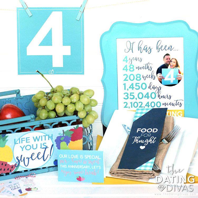 4th Wedding Anniversary Gift Ideas: Fourth Anniversary Gift Printable Kit