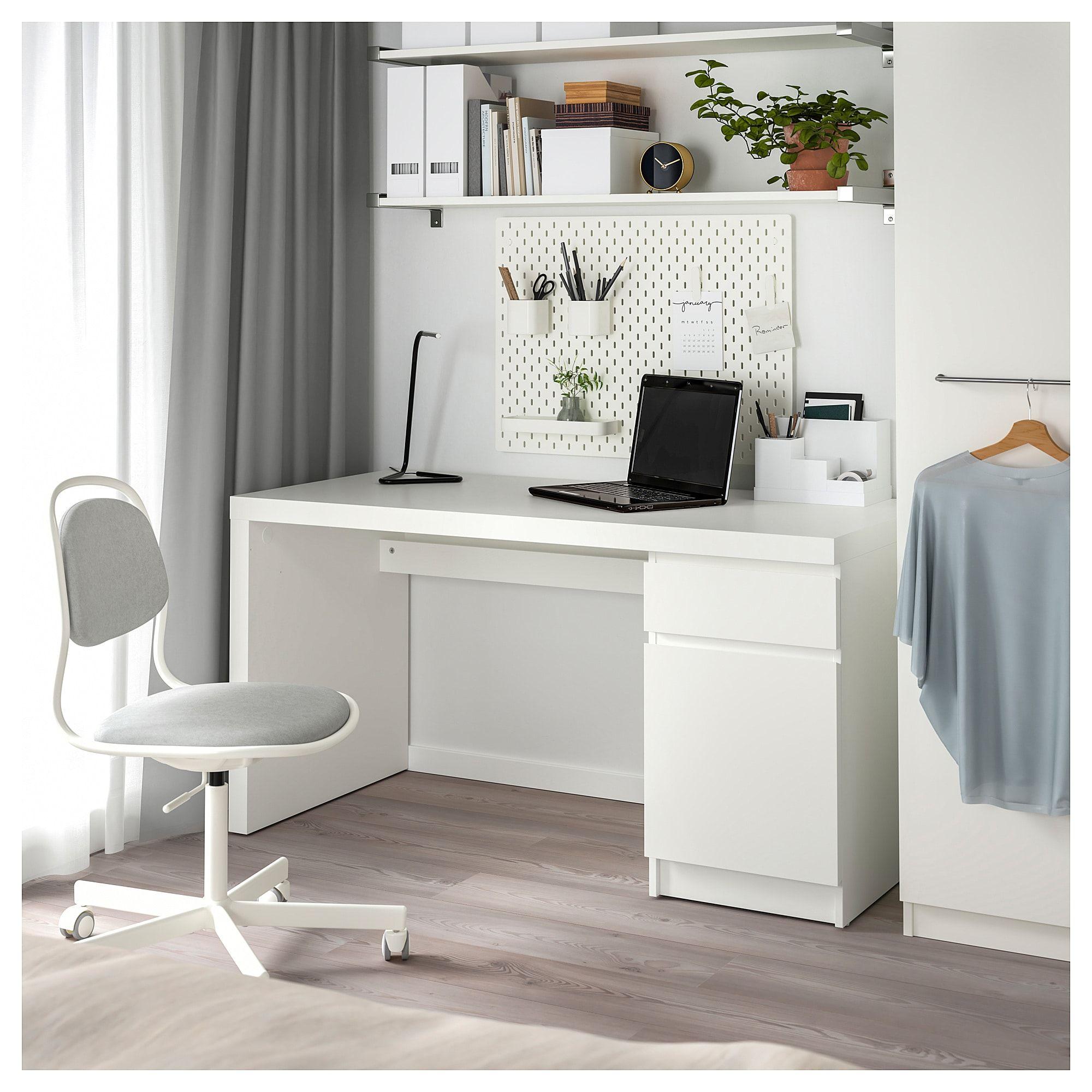 MALM Desk - white 55 1/8x25 5/8