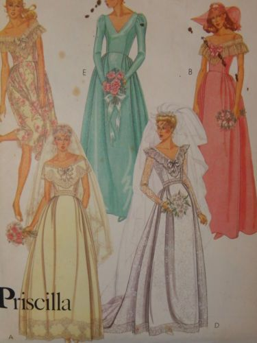 McCall\'s 7395 Size 6 Bridal Bridesmaid Gowns Vintage 1981 Chapel ...