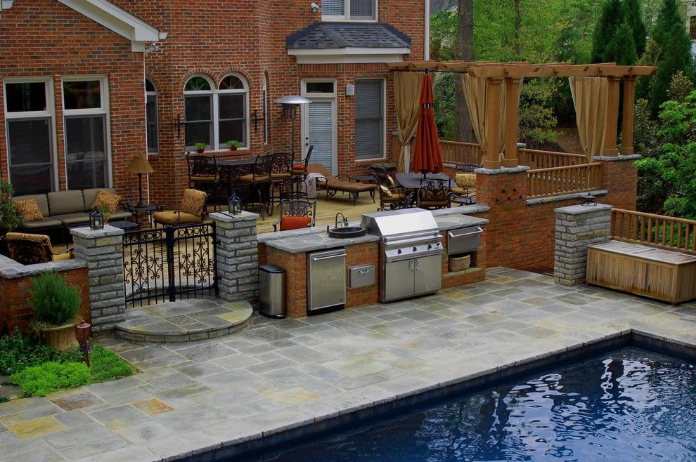 Houzz Home Design Decorating And Remodeling Ideas And Inspiration Kitchen And Bathroom Design Patio Design Outdoor Kitchen Design Pool Patio