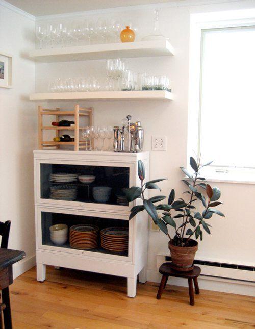 como-decorar-cocina-baldas-estantes-6 Diseño Pinterest