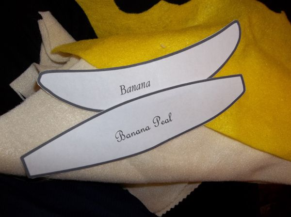 Feltro-banane 7 pezzi frutta per il Kaufmann caricamento