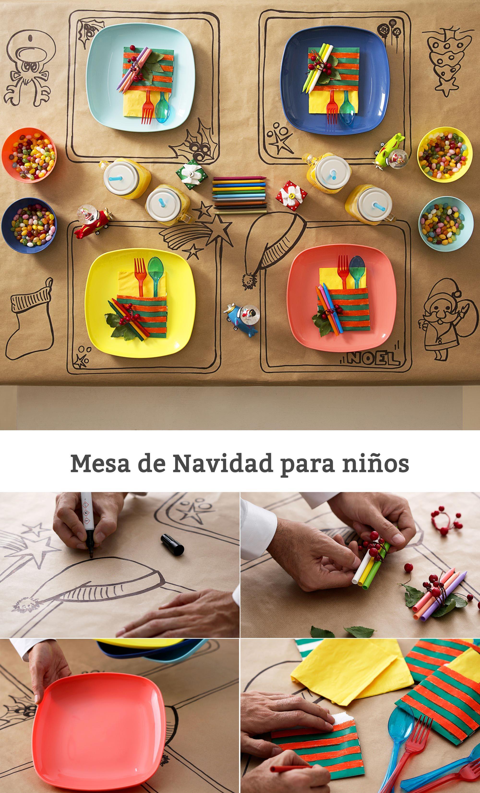 Decorar La Mesa De Navidad Para Los Ninos Children Navidad