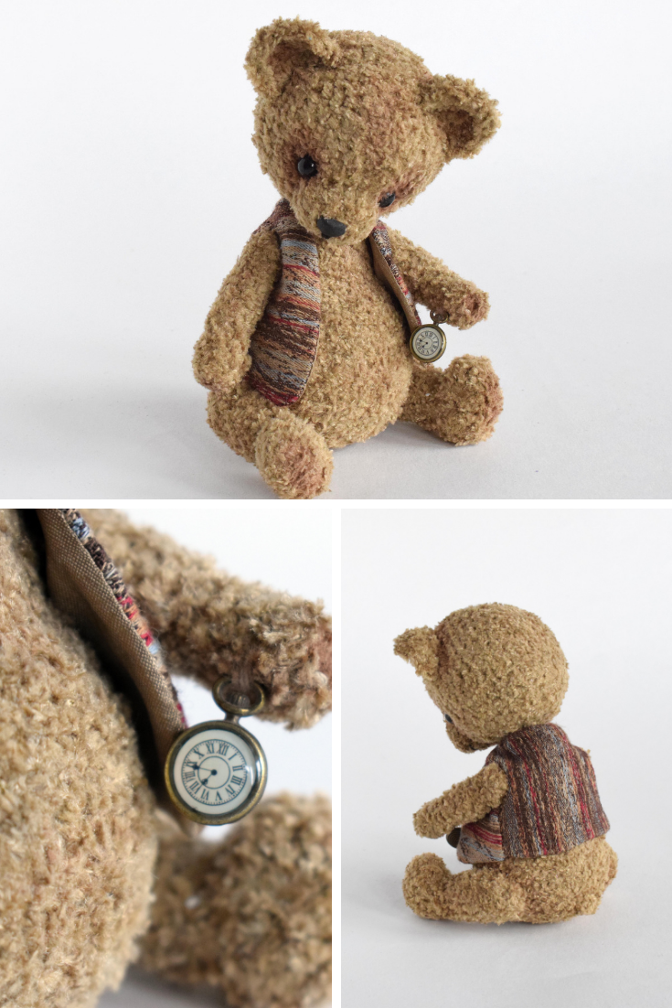 toy bear as a gift brown bear Knitted Bear soft toy teddy bear bear small toy for baby,vintage bear,toy for interior,kind toy
