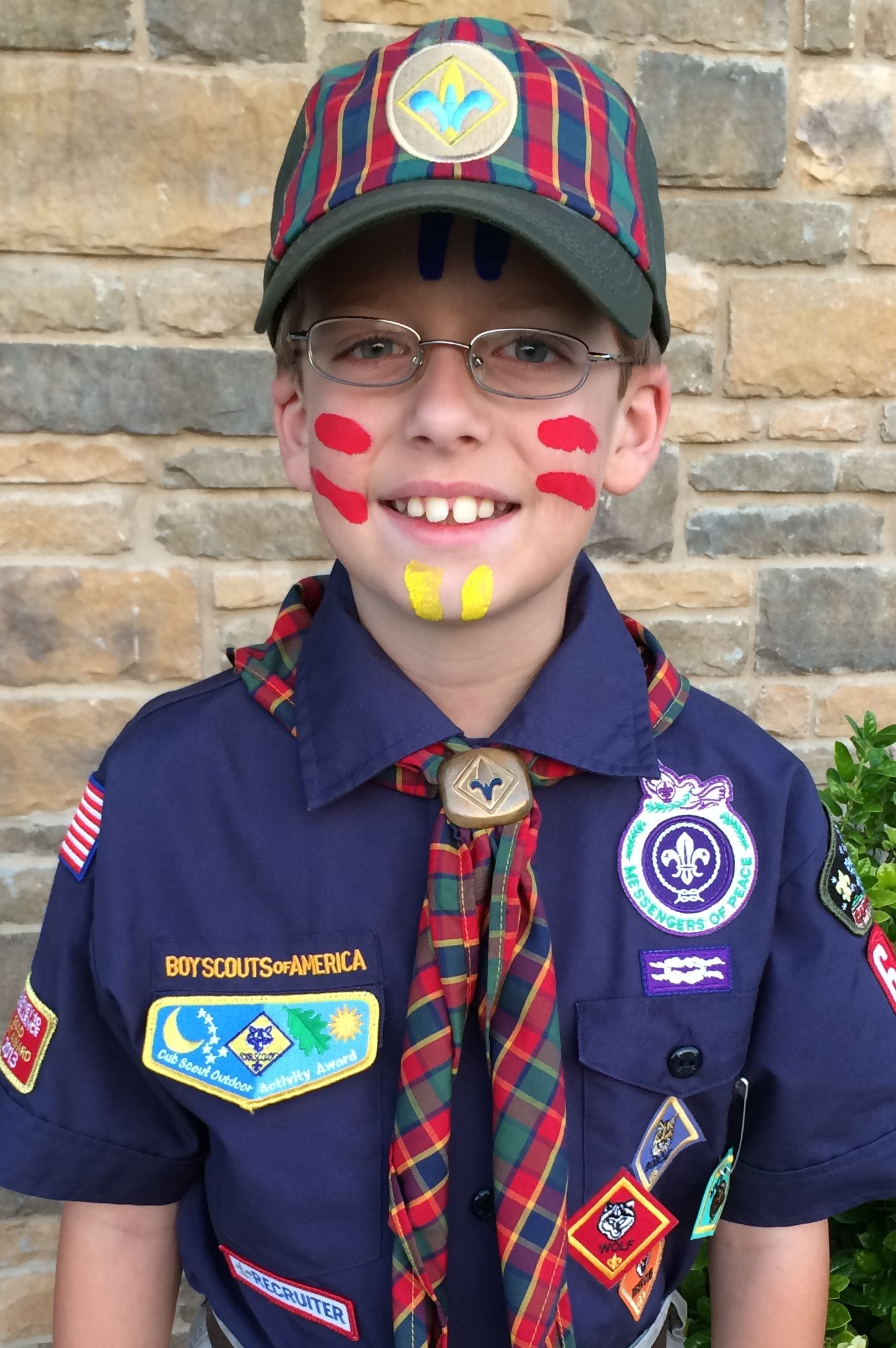 Cub Scouts Crossover Painting Face