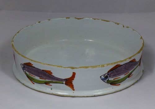 The Best English Polychrome Delft Char Dish 1750 Faience