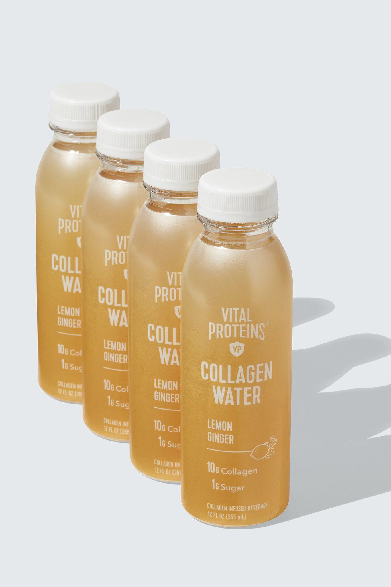 Vital Collagen Water™ - Lemon Ginger, 4-Pack