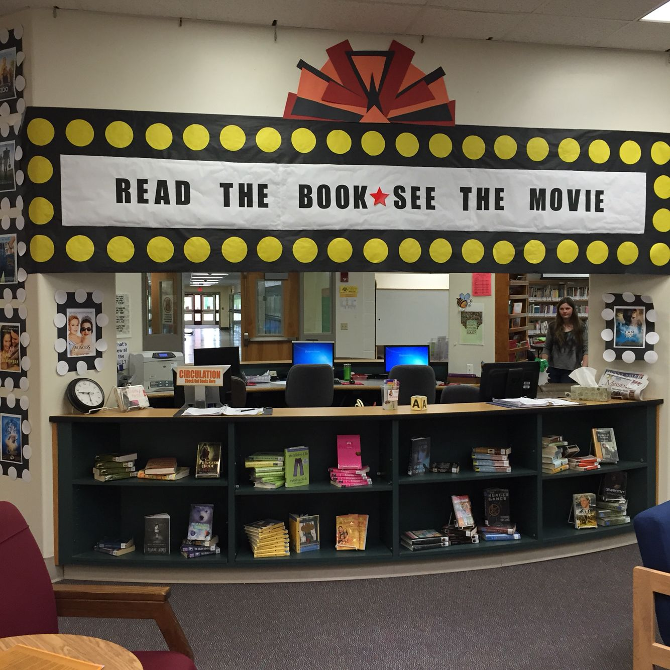 May display - read the book - see the movie - cinema marquee