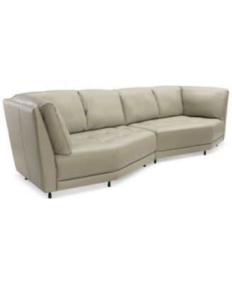 Belice 2 Pc Leather Modular Sofa Only At Macy S Macys