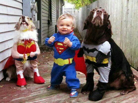 Child and dog costumes