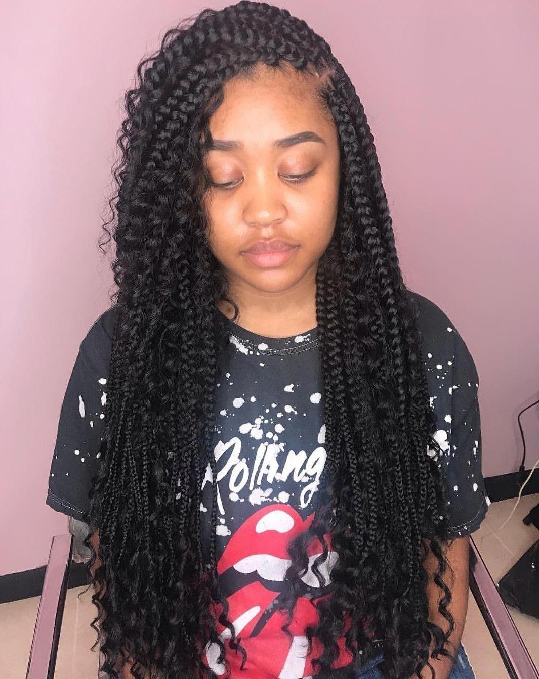 Cyte Pic ғollow Me Datѕnope ғor More Boxbraidsupdo Longboxbraids Goddessbraids Cyte Pic ғol Hair Styles Braids With Curls Box Braids Hairstyles