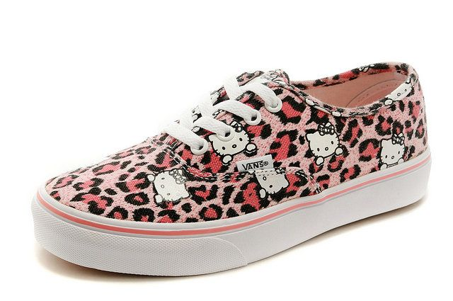 Hello Kitty Authentic Vans Era Leopard Print Pink Off the Wall Sneakers   S14100904  -  39.99   Vans Shop 760f41e64c