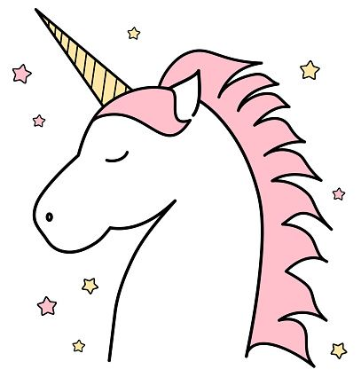 Perfect Unicorn Outline Clipart.jpeg (407×425)