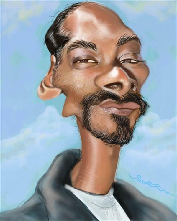Snoop Dogg Caricature Celebrity Caricatures Funny Caricatures