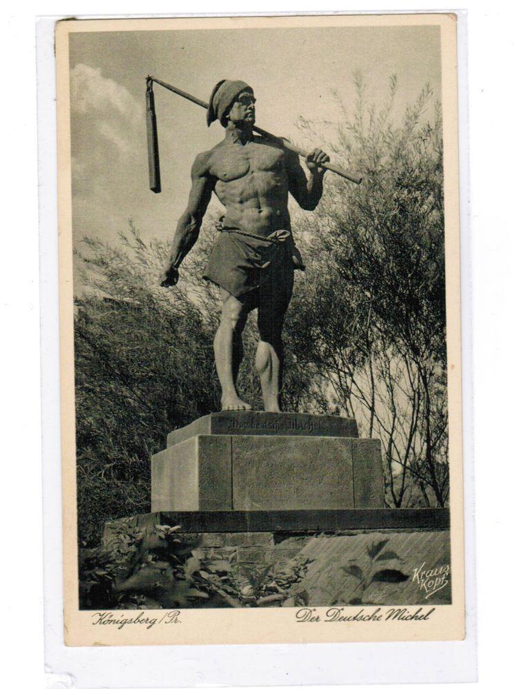 Deutsches Reich Ostpreußen AKt KÖNIGSBERG 1935 Der Deutsche Michel beschrieben