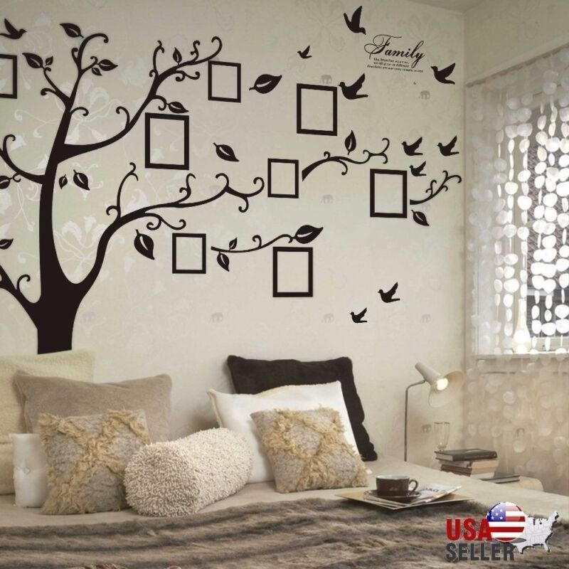 14 95 Family Tree Wall Decal Sticker Large Vinyl Photo Picture Frame Removable Black Wall Stickers Family Wall Decor Decals Family Tree Wall Decal