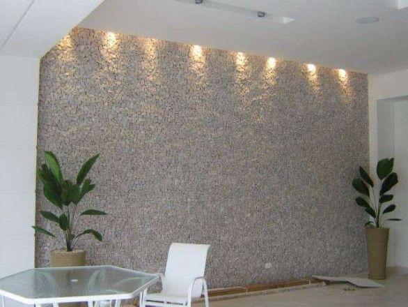 Revestimento de fachadas e muros com pedras piso de - Decoracion muros exteriores ...