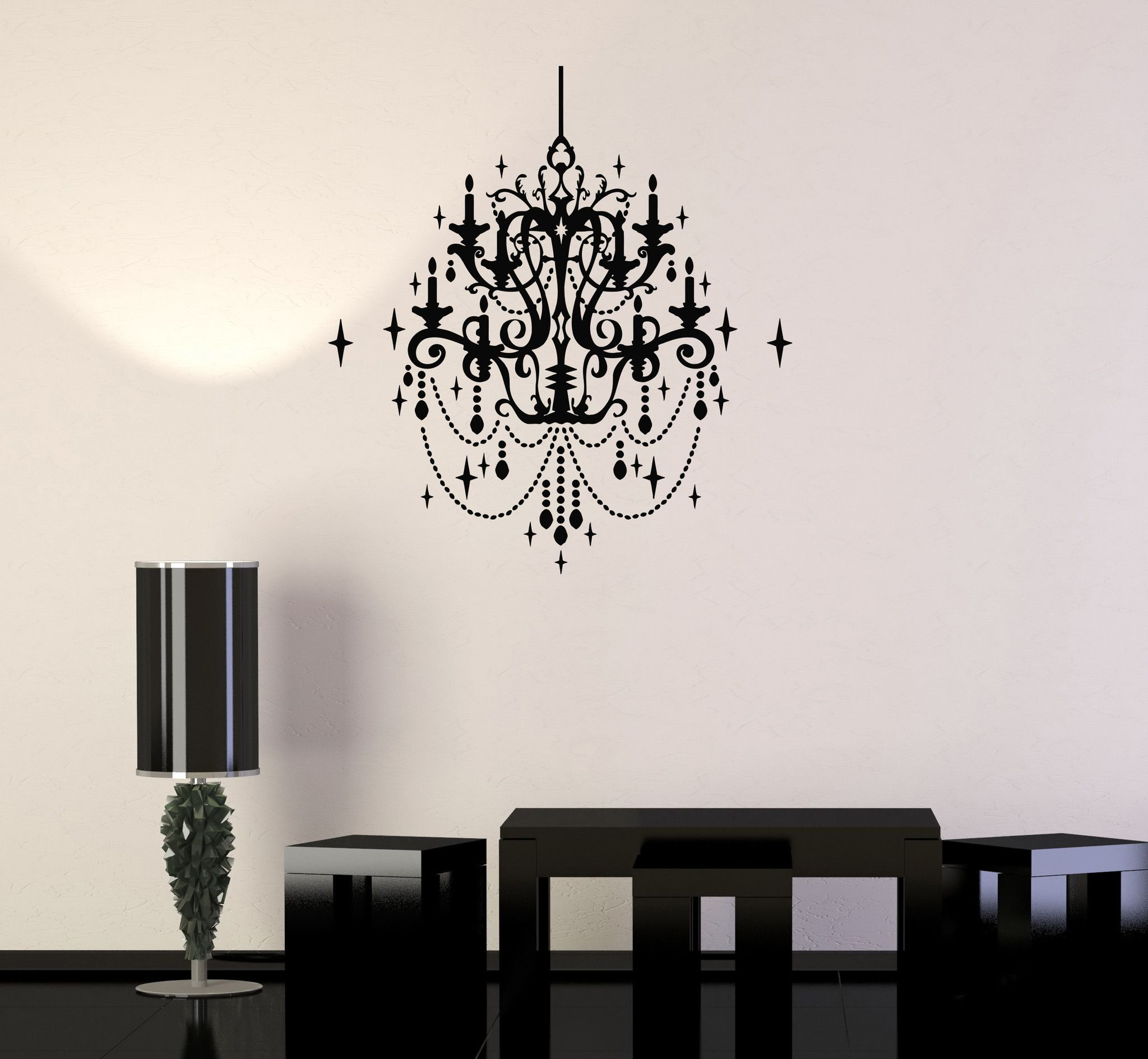 Wall decal vintage chandelier decor lighting decoration vinyl wall decal vintage chandelier decor lighting decoration vinyl stickers ig2845 aloadofball Gallery