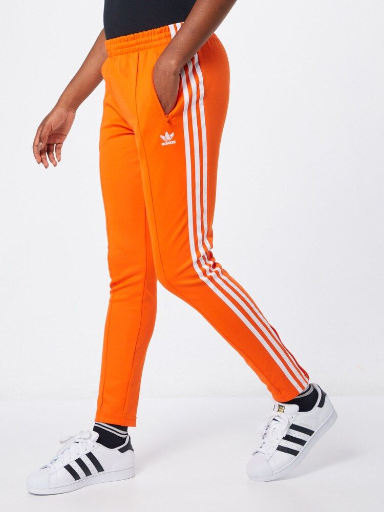 ADIDAS ORIGINALS Stoffhose 'SST TP' Damen, Orange, Größe 48 ...