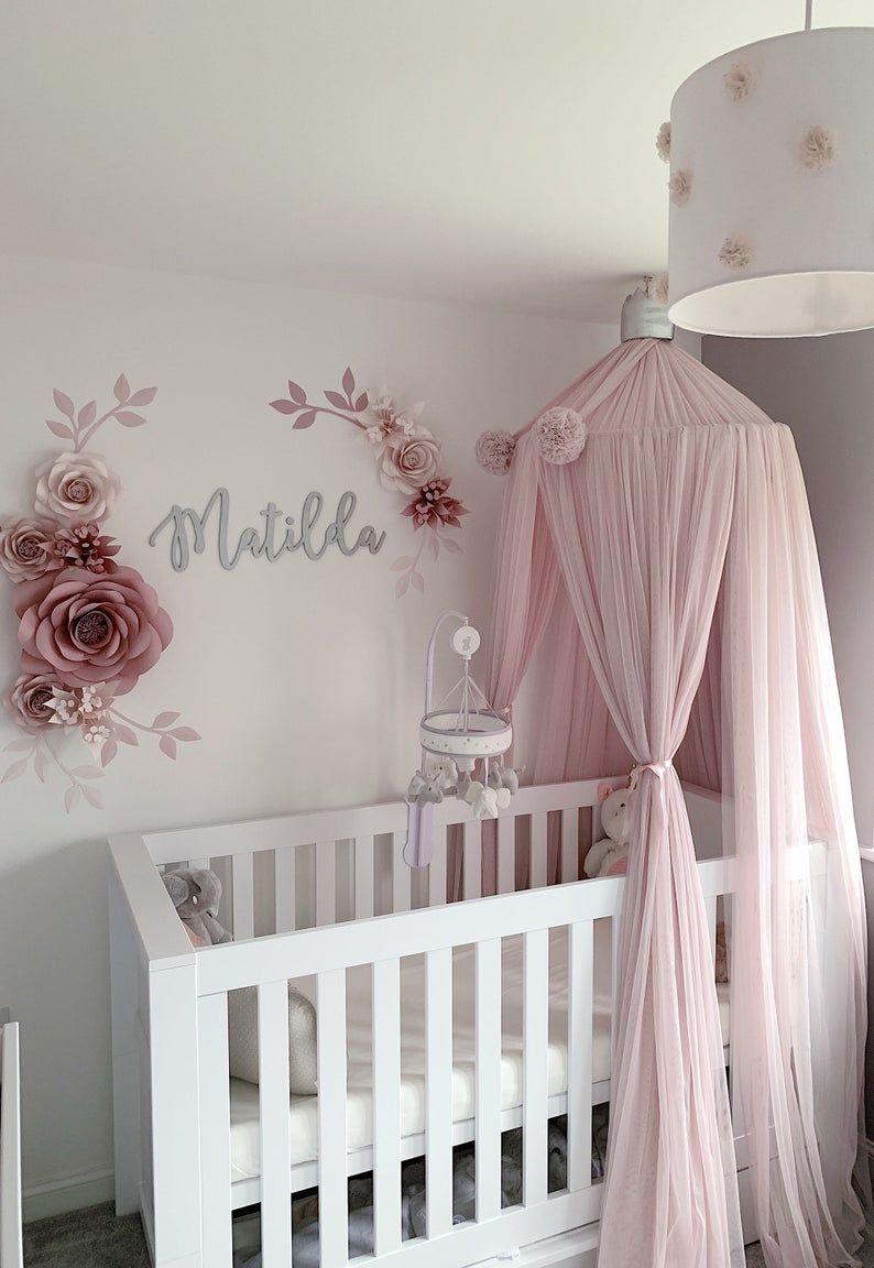 Photo of Nursery Wall Decor – Set of 9 High Quality Paper Flowers – Paper Flower Wall Decor