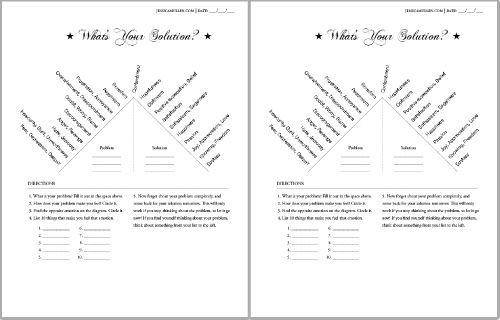 problem solution worksheets Termolak – Problem Solution Worksheets