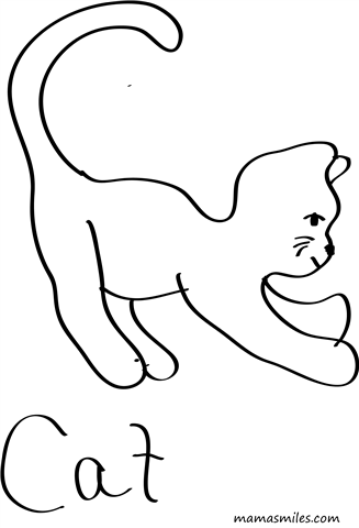 printables  coloring pages for kids  coloring pages cat