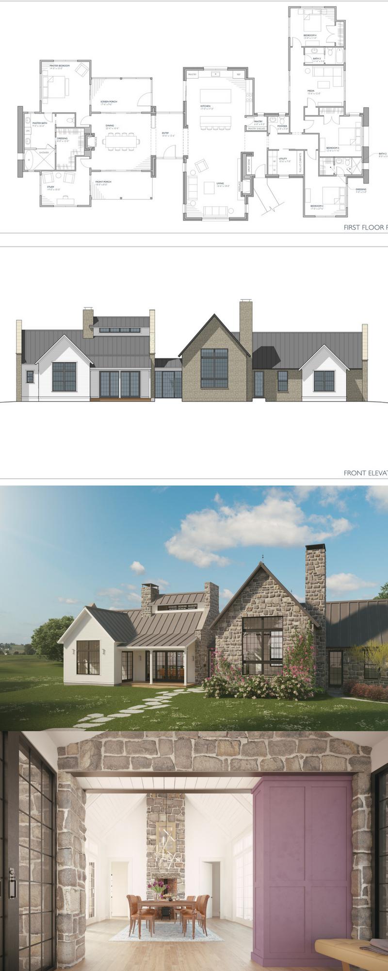 Ferrandaise Farmhouse Plans Modern Farmhouse Plans Modern Farmhouse Floors
