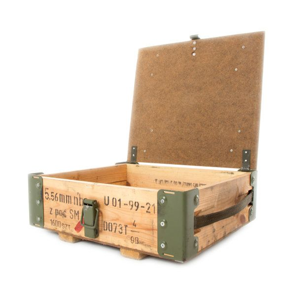 NATO Issue Wooden Storage Box   Tool Box   Ammo Box Army Military Surplus f4df3d470dd