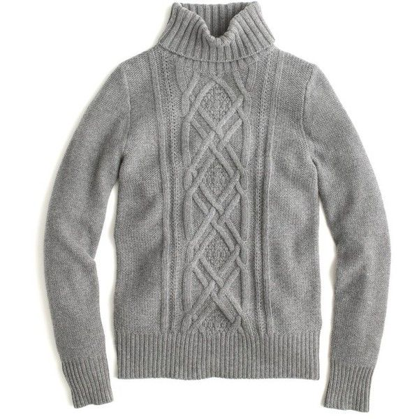 063a2d5bc3 Women s J.crew Cambridge Cable Turtleneck Sweater found on Polyvore  featuring tops