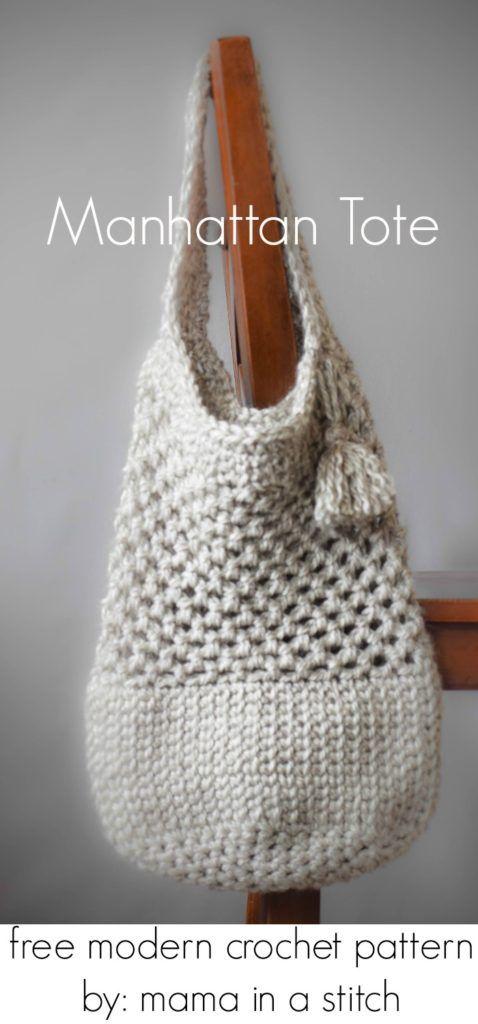 Modern Crochet Market Tote Free Pattern   Crochet   Pinterest ...