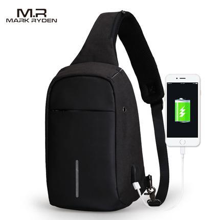 Cross-body Backpack with USB Charging Port by Mark Ryden.  EBay  Markryden  New Arrival Crossbody Bags Men ... 9ba5989d62fc3