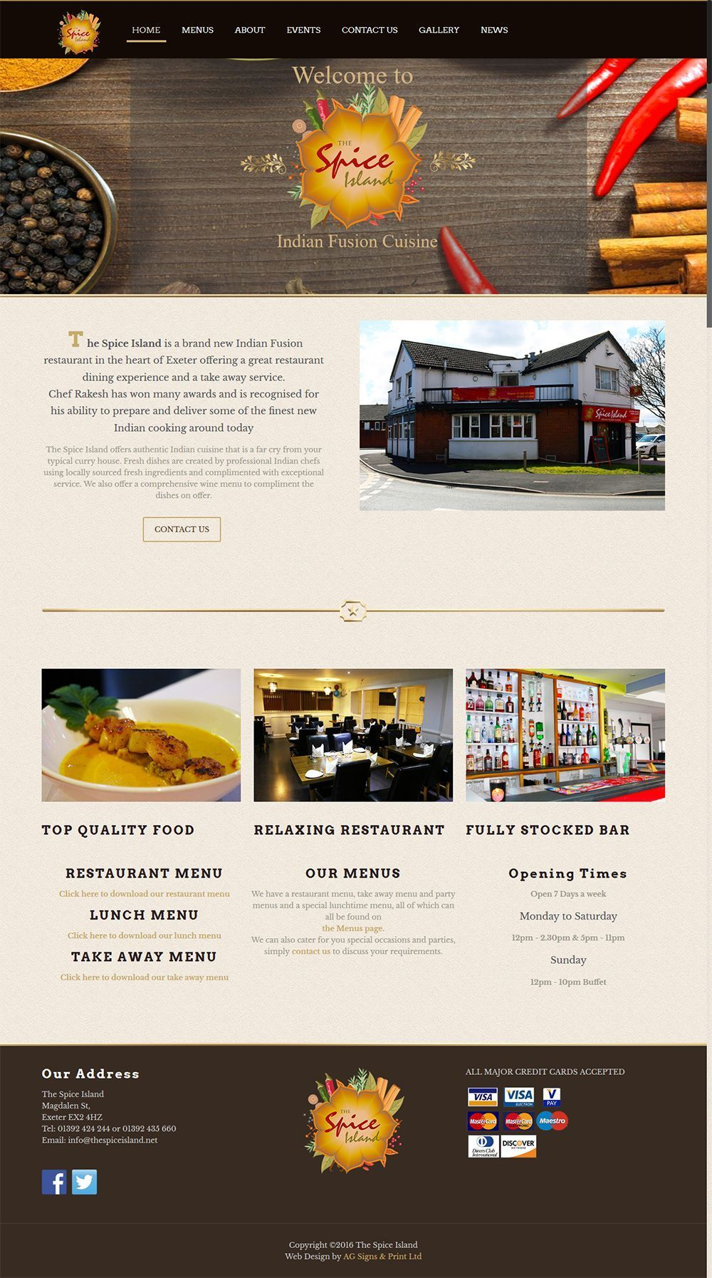 Indian Fusion Restaurant And Take Away Exeter Webdesignexeter Online Web Design Portfolio Web Design Web Design Websites