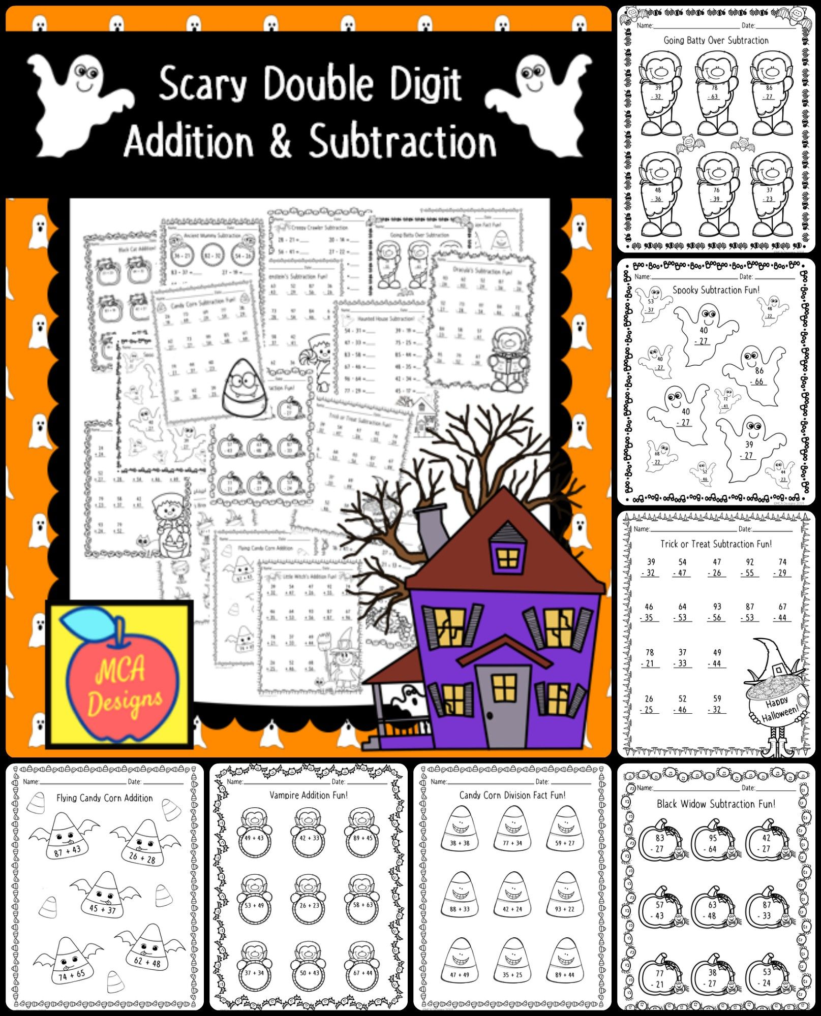 Scary Double Digit Addition Amp Subtraction