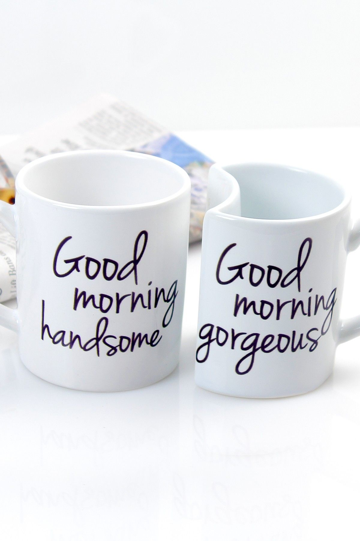 smart idea porcelain coffee mugs. Enjoy your morning time even more with our adorable Good Morning Coffee Mugs  Sold in a set of two his and her styled mugs the ceramic stoneware Hand written coffee I sure wish my husband would drink
