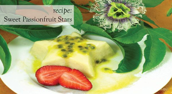 Passion Fruit Stars A Recipe From About The Garden Jelly Desserts Delicious Desserts Sweet