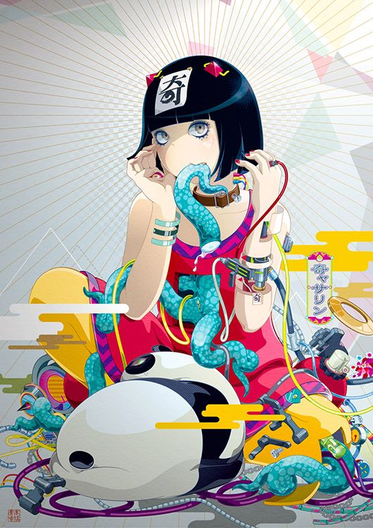 ART Hiroyuki Takahashi (タカハシヒロユキ) More Girls Stuffed w