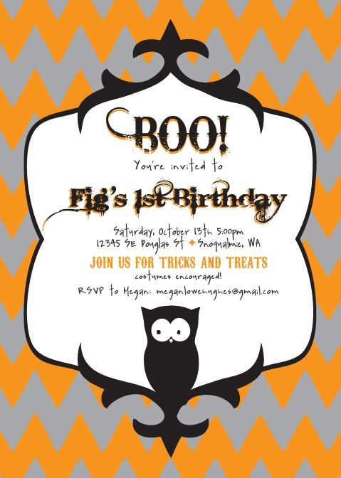 Halloween Or Birthday Party Invitation Custom Template