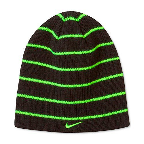 Nike Boys  Reversible Beanie Black and Neon Green Stripe ... http   8cd5d53ca09