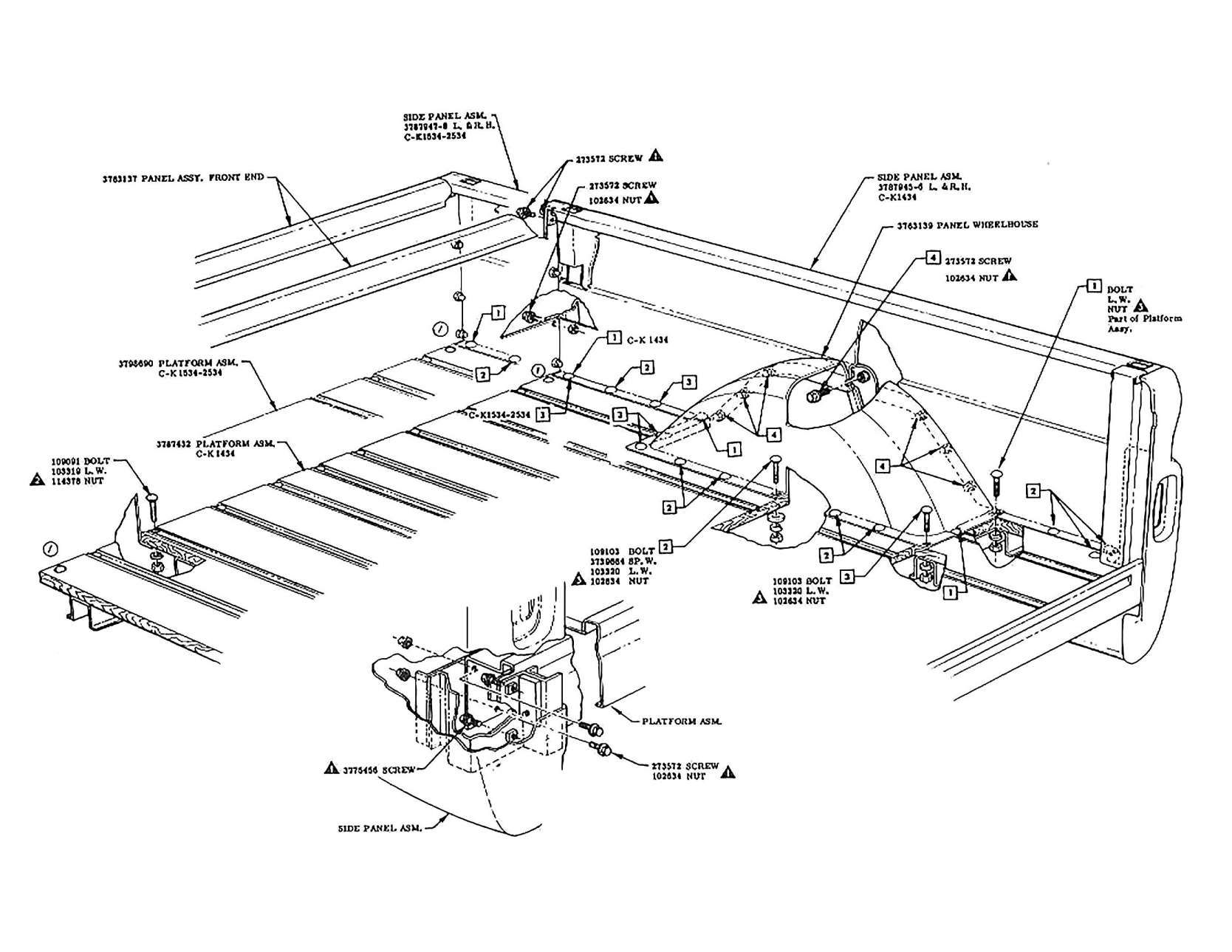 17 Chevrolet Truck Parts Diagram