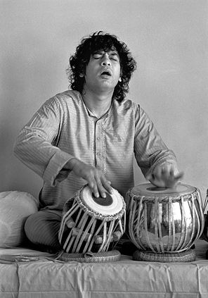 Zakir Hussain, possibly the greatest tabla drummer of all