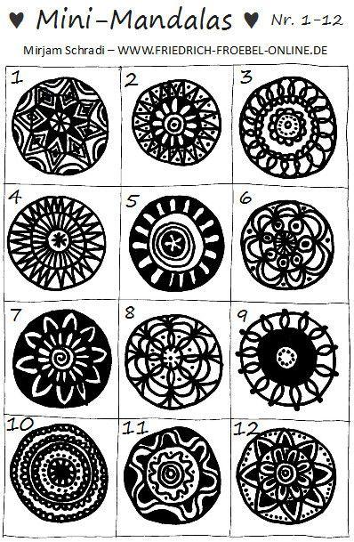 So Kannst Du Ganz Einfach Und Schnell Deine Ersten Mandalas Malen Einfach 3 Ringe Zeichnen Dann Die 3 Ringe Mandalas Malen Bilder Malen Einfach Muster Malen